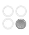 Felső szűrő+gumi Moka 3/4  1 szűrő + 3 db gumitömítés