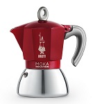 Bialetti Moka Induction (P)  Piros színben 2, 4 és 6 személyes