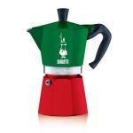 Bialetti Moka Tricolor  zöld/fehér/piros 3 személyes bevont alumínium