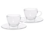Bialetti üveg csésze szett  2 részes, üveg espresso vagy cappuccino