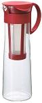 Hario Mizudashi 1000 Piros  hideg-filterkávé készítő hasznos kapacitás: 800 ml